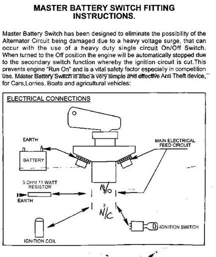 Wiring Battery Cut